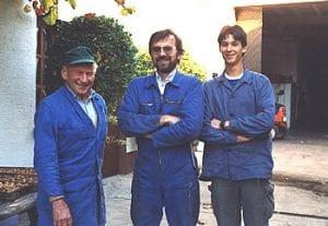 Robert, Reinhard und Reiner Bossert (v.l.)