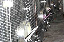 Hier wird unser Wein gelagert